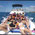 beauty group on a yacht